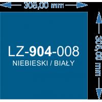 LZ-904-008 niebieski/biały 305x305