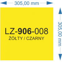 LZ-906-008 żółty/czarny 305X305