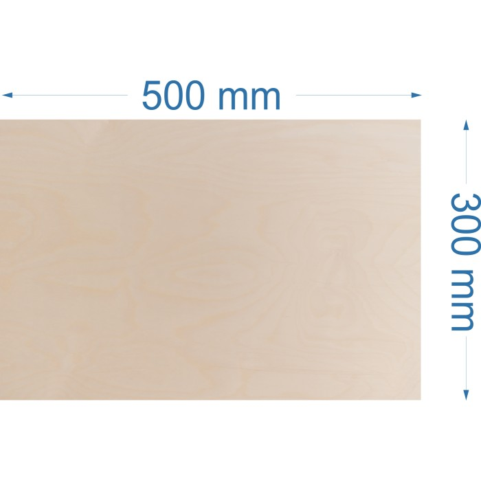 Brzoza 500x300mm, gr. 6mm