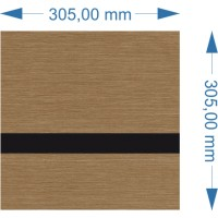LZ-9346-008 szczotkowany brązowy/czarny