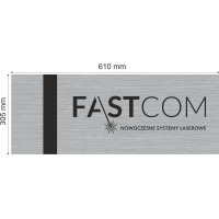 LE-991-015 szczotkowany srebrny/czarny